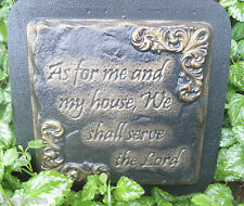 """Abs plastic religious mold stepping stone mold """"we shall serve the Lord"""""""