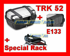 TRIUMPH TIGER 800 XC VALIGIA BAULE TRK52N + TELAIO SRA6401 ALLUMINIO + SPALLIERA