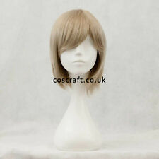 Short layered cosplay wig with fringe in ash blonde, UK seller, Prince style