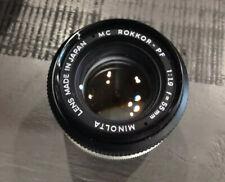 Minolta MC Rokkor-PF 135mm f/2.8 Lens