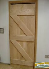Bespoke Solid Oak Ledge And Brace Doors 760mm X 1980mm Assembled Door