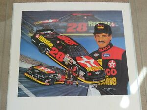 """Nascar Vintage 1992 Davey Allison """"The Energy to go further"""" picture Signed by S"""