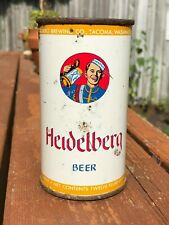 OLD 1950's HEIDELBERG BEER FLAT TOP CAN COLUMBIA BREWERIES TACOMA WASHINGTON
