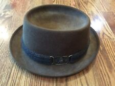 "9c6b9143358 Champ Men s Fedora Hat Brown Color Size 7.25 ""Feel the felt"" EUC"