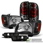 For 2001-2004 Toyota Tacoma Black Cornerbumperheadlightssmoked Tail Lights