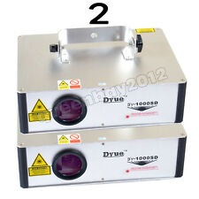 2pcs 1W Projector Stage Lighting Laser DY-1000 RGB Full Color SD Card DJ Party