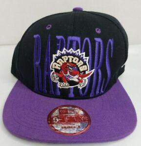 New Era 9Fifty NBA Toronto Raptors Snapback Cap Black Purple Canvas One Size EUC