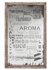 Plaque miroir décorative murale Vins du monde n°1 cadre en bois