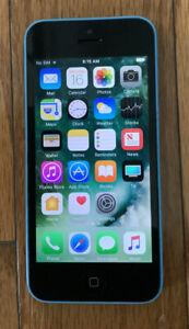 Apple iPhone 5c - 32gb- Blue (Unlocked) A1532Works! No Sim 28.76gb