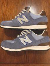 NEW BALANCE Mens Light Blue 574 Black Shoes Size 9.5 (d)