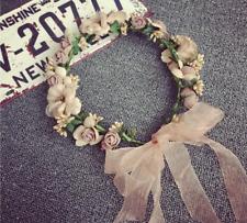 Pretty Bridal Garland Headband Flower Crown Hair Wreath Halo Accessory Prom