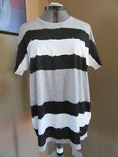 NWT Gucci Women's Printed Striped T Shirt w/ Logo Size Medium