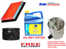 FOR NISSAN QASHQAI 1.5 DCI 07-12 SERVICE KIT OIL AIR FUEL FILTERS 5L ENGINE OIL