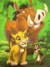 LION KING med sweatshirt DISNEY African musical Timon & Pumbaa crewneck 1990s