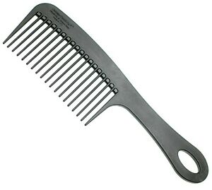Chicago Comb No. 8 Carbon Fiber, Detangling, Shower & Beard comb, Made in USA