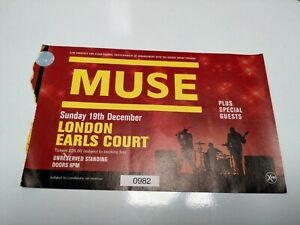 Muse Original Used Concert Ticket Earls Course rare