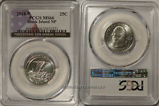 2018 P Block Island NP Quarter 25c PCGS MS66 USA Flag