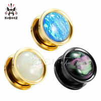 New Style Steel Ear Gauges and Ear Tunnels Body Jewelry Piercing Ear Plugs 2pcs