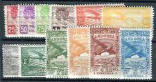 SPANISCH ANDORRA 1932 I-XII ** POSTFRISCH SATZ UNVERAUSGABTER SATZ 38€(F4215