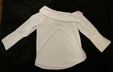 River Island White Bardot Off Shoulder Shirt  Blouse Size 10 UK BNWT