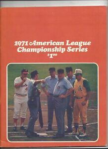 1971 A.L. Playoff Program (Baltimore vs Oakland) excelelnt- nr. mint (see scan)