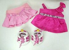 BUILD A BEAR PINK CLOTHES LOT AND SKETCHER SHOES
