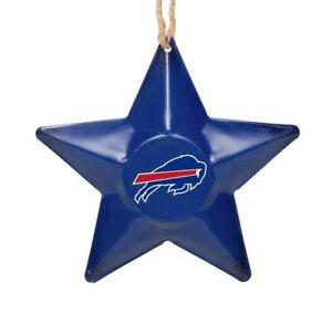 Buffalo Bills Christmas Tree Holiday Ornament New - Team Logo Metal 3D Star