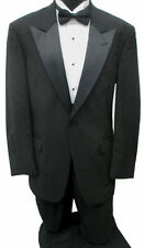 Men's Black Tommy Hilfiger Tuxedo Jacket with Pants Satin Peak Lapels 43 Regular