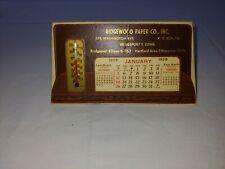 Vintage 1958 Thermomoeter Desk Calendar Ridgewood Paper Co Bridgeport CT