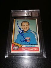 Scotty Bowman Signed 1974-75 Topps Rookie Card Montreal Canadiens BAS Slabbed