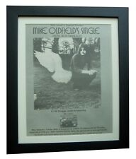 MIKE OLDFIELD+Tubular Bells+POSTER+AD+RARE ORIGINAL 1974+FRAMED+FAST+GLOBAL SHIP