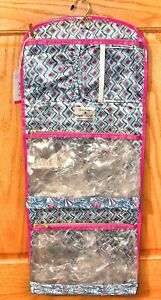 Lilly Pulitzer Hanging Valet Makeup Toiletry Travel Case Bag Folds NEW W/ TAGS
