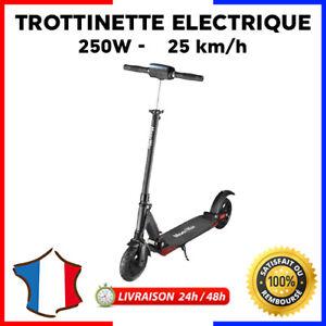"""Trottinette Electrique 8"""" 250 W Pliable Night Edition Large Roue"""