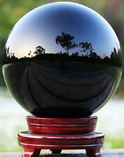 120MM Natural Black Obsidian Sphere Large Crystal Ball Healing Stone