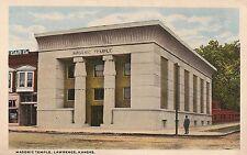 Masonic Temple in Lawrence KS Postcard