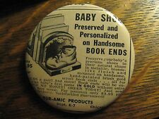 Dur Amic Bronze Baby Shoes Book Ends 1948 Advertisement Pocket Lipstick Mirror