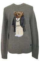 NEW, RALPH LAUREN PURPLE LABEL MEN'S GRAY 'BEAR' CASHMERE SWEATER, XS, $2050