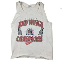 VTG Detroit Red Wings 1997 & 1998 NHL Stanley Cup Champions Tank Top Sz XL