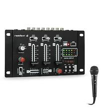 DJ PA Mixer Mischpult Set Party USB Mikrofon Line-In Rack Talkover