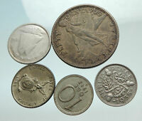 GROUP LOT of 5 Old SILVER Europe or Other WORLD Coins for your COLLECTION i75638