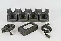 Motorola Charger Cradle CRD7X00-4000CR 4 Slot for MC70 MC75 Scanner w/ Power Sup