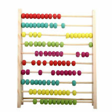 NEW Wooden Counting Frame Bead Maze Abacus Preschool Kids Educational Toys