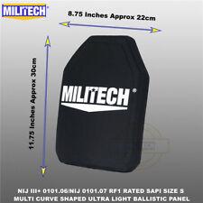 MILITECH NIJ 0101.06  3+&NIJ 0101.07 RF1 UHMWPE SAPI Ballistic Panel Pair(2PCS)