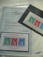 BERLIN:Block 1 ** Währungsgeschädigte postfrisch geprüft Fotoattest BPP Schlegel