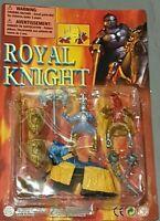 Royal Knight Playset - 2x Ritter-Figur mit Waffen & 1 Pferd - Vintage Moc Ovp