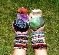 Charoite Crystal Gemstone Bracelet Natural Crystal Healing Reiki Dino