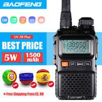 1X MINI BAOFENG UV3R+ WALKIE TALKIE DUAL BAND FM RADIO UHF/VHF LED LCD FUNKGERÄT