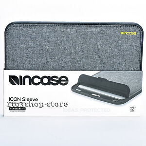 "Incase ICON TENSAERLITE Sleeve Pouch Slip Case fo MacBook 12"" Heather Gray/Black"