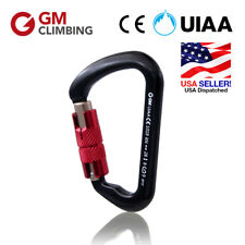 28kN Aluminum D Auto-Locking Carabiner Screw Gate GM CLIMBING CE UIAA U.S. Stock