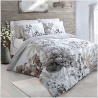 Duvet Cover set Large Floral Bloom Natural Bedding Pillowcase Singl Double King